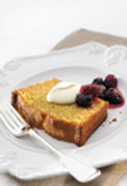 Polenta And Sour Cream Cake With Blackberry Compote