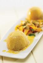Tapioca Pudding With Mango Salad