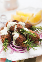 Lamb Kebabs With Mint And Buttersauce